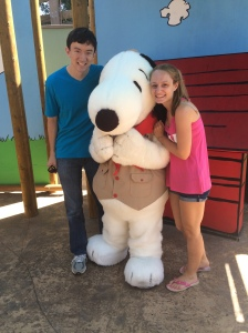 Ryan and I posing with Snoopy!