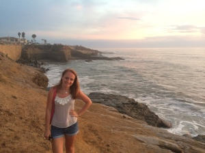 Already missing those beautiful West Coast sunsets! Here I am at La Jolla shores watching the sunset before catching my red eye flight back